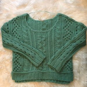 Free People cable knit sweater- SM